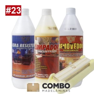 Combo 23 - Promocional - 1 litro de Cera para pisos brilhantes + 1 litro Removedor + 1 litro do Limpador concentrado + 1 passa cera