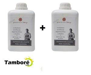 Kit com 2 litros Betume da Judéia + brinde: pincel 3/4 (pronto uso)
