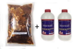 Combo - 250gr Goma laca indiana + 2 embalagens 900mL Diluente 99º (solvente)