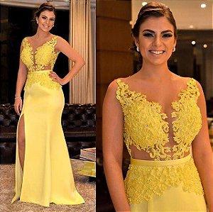 69a477e30 VESTIDO VERMELHO BORDADO COM FENDA K W637KWBRA - Livia Fashion ...
