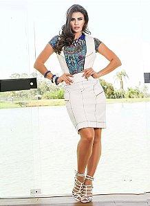 d6cc167ffc CONJUNTO BRANCO COLETE E SAIA K WPVV26H3D - Livia Fashion - Atelier ...