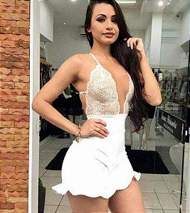 MACAQUINHO FRENTE ÚNICA COM RENDA K MQDB5F2DY