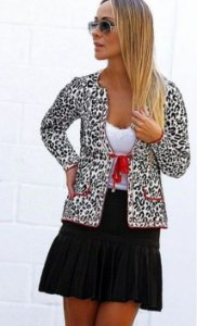BLAZER ESTAMPA ANIMAL PRINT BRANCO S 45JF254T8
