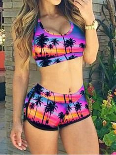 CONJUNTO ESTAMPA TROPICAL K JH65P7C5K
