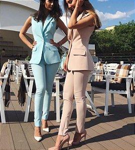 44ec879c97 CONJUNTO AMARELO SHORT E MAXI COLETE K D5TCWHW6F - Livia Fashion ...