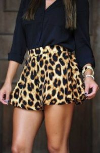 SHORT ANIMAL PRINT K Z2YDZYALK