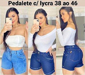 SHORT PEDALETE JEANS COM LYCRA P 3GWFXXUDK F039