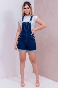 SALOPETE SHORT JEANS P LP3RB939X F021