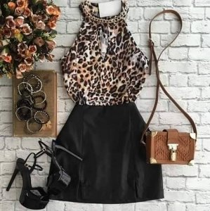 CONJUNTO BLUSA ANIMAL PRINT K 2ULSA44NJ
