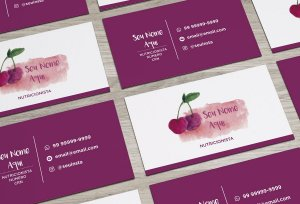 Cartão de Visita Nutricionista M0003