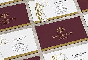 Cartão de Visita Advogado M0010