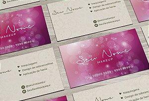 Cartão de Visita Makeup M0005