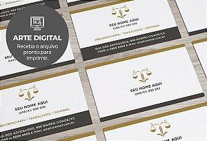 Cartão de Visita (somente a arte) Advogado M0004