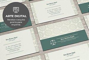 Cartão de Visita (somente a arte) Advogado M0006
