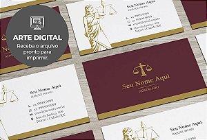 Cartão de Visita (somente a arte) Advogado M0010