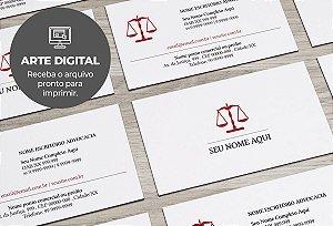 Cartão de Visita (somente a arte) Advogado M0014