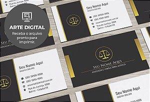 Cartão de Visita (somente a arte) Advogado M0026