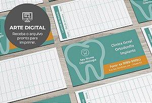Cartão de Visita (somente a arte) Dentista M0002