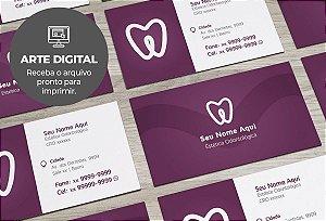 Cartão de Visita (somente a arte) Dentista M0004