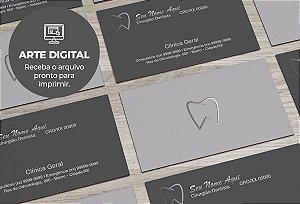 Cartão de Visita (somente a arte) Dentista M0006
