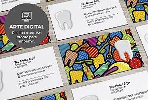 Cartão de Visita (somente a arte) Dentista M0007