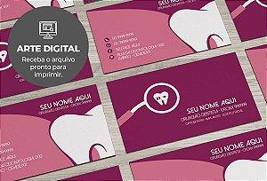Cartão de Visita (somente a arte) Dentista M0009