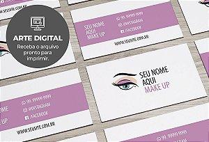 Cartão de Visita (somente a arte) Makeup M0001