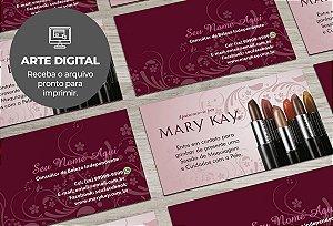 Cartão de Visita (somente a arte) Mary Kay M0003