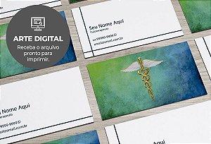 Cartão de Visita (somente a arte) Médico M0001