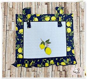 Panô de Forno 4 Bocas – Limão Blue, 47cm x 37cm.