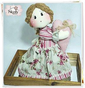 Boneca Decorativa - Violeta.