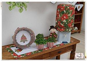 Capa Galão 20 litros – Árvore de Natal Estampado, 92cm x 42cm.