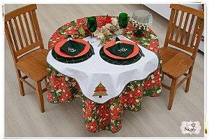 Toalha de Mesa Para 4 cadeiras– Árvore de Natal, 1,40m x 1,40cm.