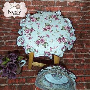 Assento Redondo – Violeta, 29cm x 29cm.