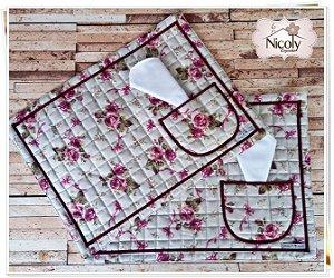 Jogo Americano – Violeta , 100% algodão.