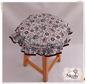 Assento Redondo – Libelula, 29cm x 29cm.