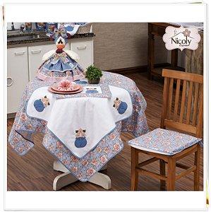 Toalha de Mesa Para 8 cadeiras – Florata, 2,50m x 1,40cm.