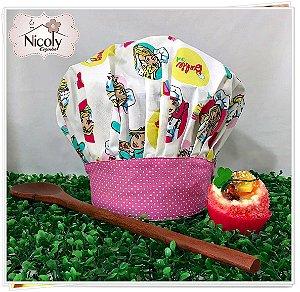 Chapéu Gourmet Infantil - 001, 100% algodão.