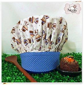 Chapéu Gourmet Infantil - 005, 100% algodão.