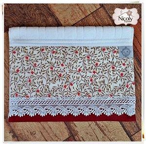 Toalha de Lavabo – Vermelho 008, 30cm x 45cm.