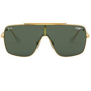 Óculos de Sol Ray-Ban RB3697 Wings II verde/dourado