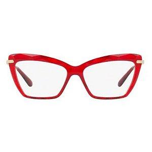 Armação óculos Dolce & Gabbana 5025 504 vermelho/dourado
