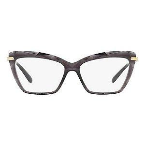 Armação óculos Dolce & Gabbana 5025 504 cinza/dourado