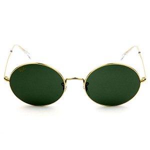 Óculos de Sol Ray-Ban RB3547 Oval verde/dourado