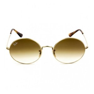 Óculos de Sol Ray-Ban RB3547 Oval marrom degradê