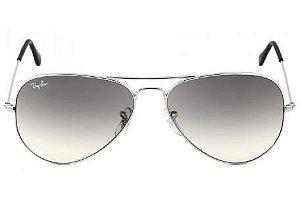 Óculos de Sol Ray-Ban RB3025 Aviador prata/preto