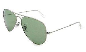 Óculos de Sol Ray-Ban RB3025 Aviador prata/verde
