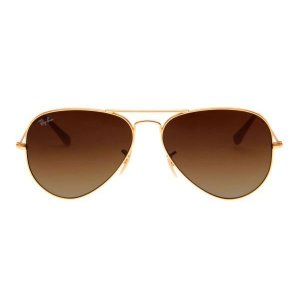 RAY-BAN RB3025 AVIADOR MARROM DEGRADÊ