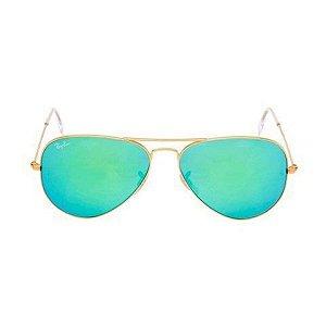 Óculos de Sol Ray-Ban RB3025 Aviador verde espelhado