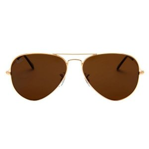 Óculos de Sol Ray-Ban RB3025 Aviador marrom / dourado